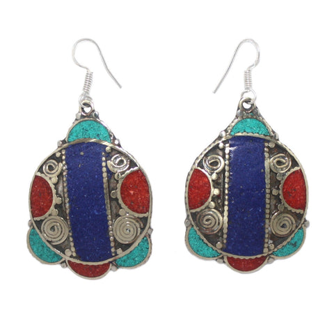 Lapis stripe earrings - Yaslai - 1