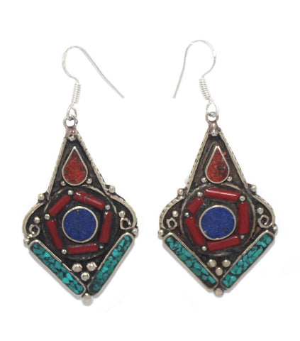 Lapis round earrings - Yaslai - 1