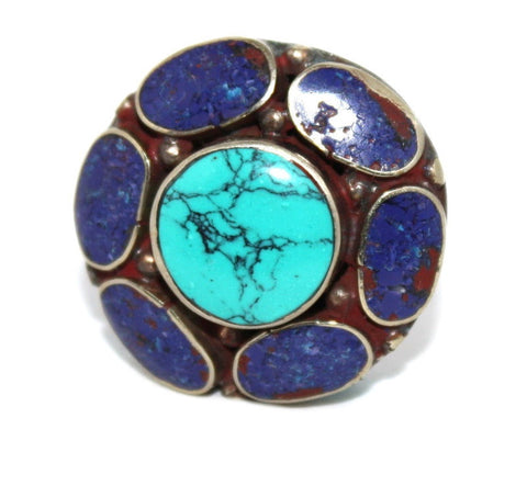 big lapis Tibetan ring - Yaslai - 1
