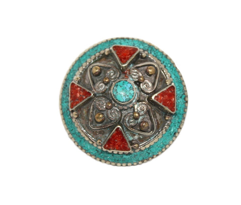 big turquoise gypsy ring - Yaslai - 1