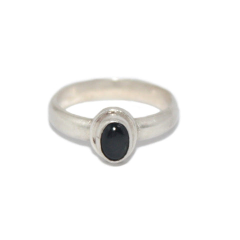 Onyx Sterling Silver Ring - Yaslai - 1