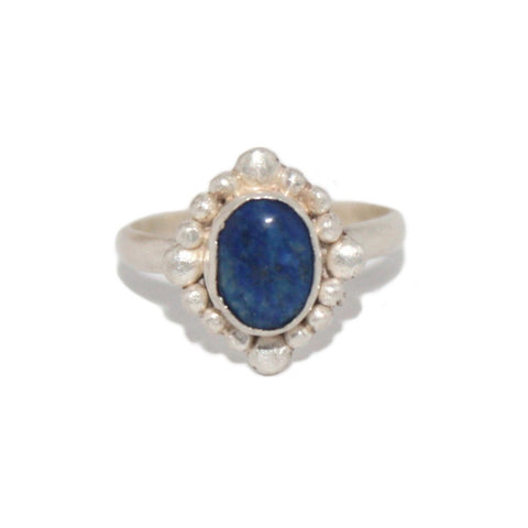Lapis Sterling Silver Ring - Yaslai - 1