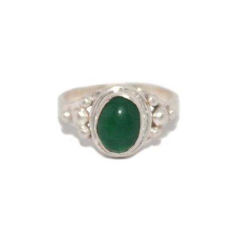 Green Quartz Sterling Silver Ring - Yaslai - 1