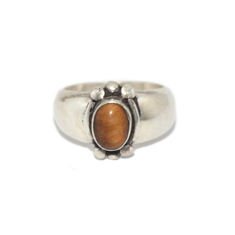 Tiger eye Sterling Silver Ring - Yaslai - 1