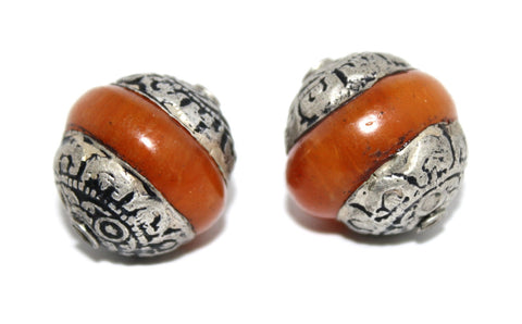 Large Amber beads - Yaslai - 1