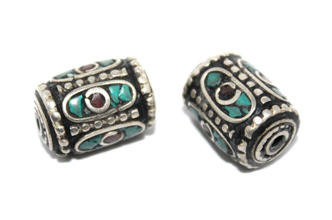 coral turquoise ethnic beads - Yaslai - 1