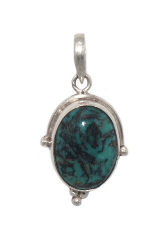 Sterling silver turquoise pendant - Yaslai - 1