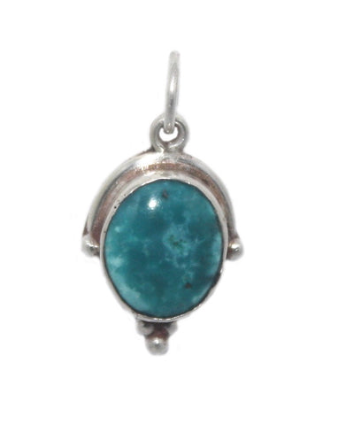 Blue Turquoise sterling silver pendant - Yaslai - 1