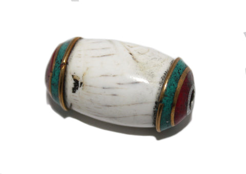 Conch shell Tibetan Beads - Yaslai - 1