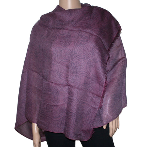 Dark purple Bamboo scarf - Yaslai - 1