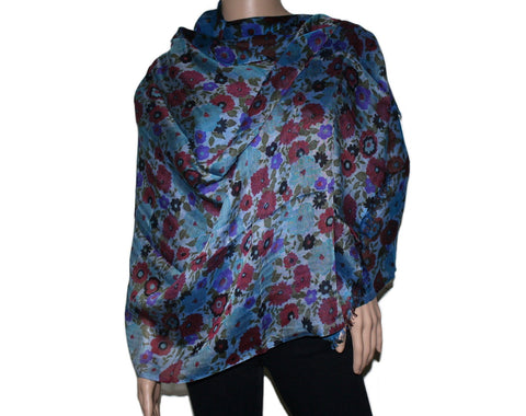 multi-color floral print Bamboo scarf - Yaslai - 1