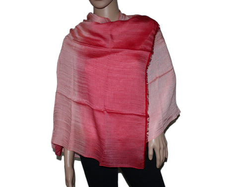 Red ombre Bamboo scarf - Yaslai - 1