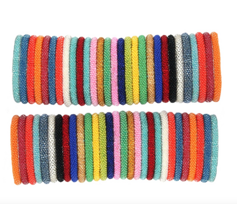 Random Mix of 10 Solid Colors Nepal Bracelets