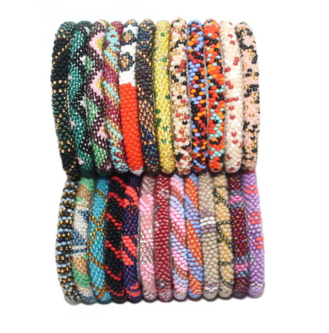 Random Sets Of 12 multi Color Nepal Bracelet