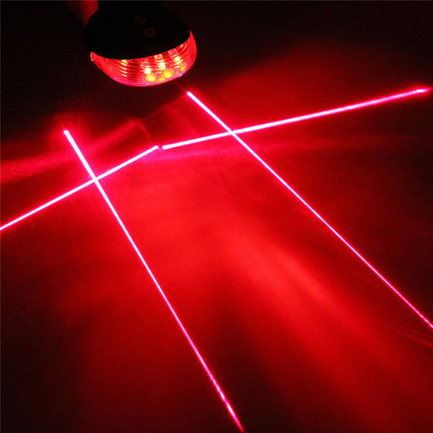 5 LED Laser Beam Bicycle Rear Tail Warning Lamp