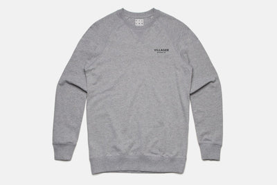Classic Crew Fleece - Heather Grey