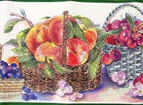 Imperial Fruit in Wicker Baskets Wallpaper Border - TTAA1007B