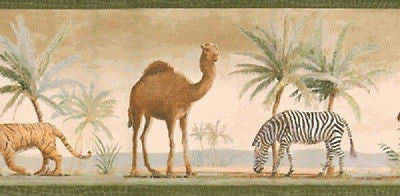 York Desert Safari Animal Wallpaper Border - PG6985B