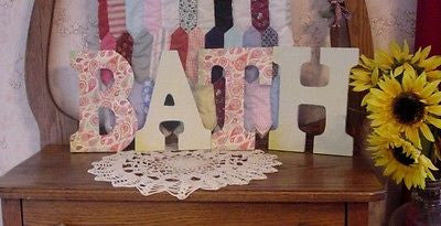 """BATH"" Decorated 9"" Multi-Colored Letters  - ba129"