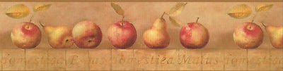 York Pears & Apples Wallpaper Border - YR9422B