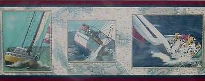 Imperial Sailboat Wallpaper Border - SC4023B