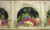 York Cheese & Fruit Wallpaper Border - KM7848B