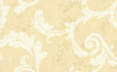 Beacon House Honey Gold/Cream Scroll Wallpaper - 112-48317