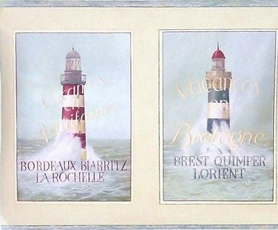 York Lighthouse French Posters Wallpaper Border - YR9459B