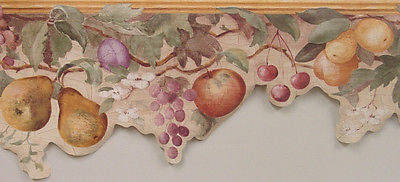 York Lazer Cut Large Fruit with Crackle Wallpaper Border - AZ5269B