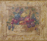 Warner Fruit Basket Multi Color Wallpaper Border - LAB5131