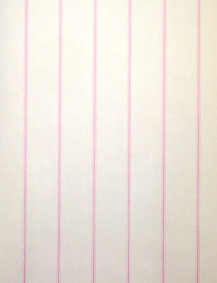 Brewster Pink and White Stripe Wallpaper - NK2194