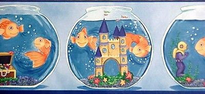 York Fish Bowl Wallpaper Border - KZ4411B