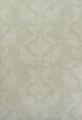 Warner Light Green & Cream Aged Damask Textured Wallpaper - PAL8021