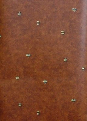 Norwall Deep Burgundy Hearts, Stars, Bee Hives Wallpaper - NC24705