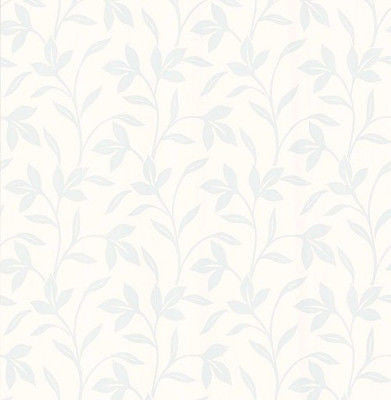 Brewster Light Blue Leaf Vine Wallpaper - 141-62160