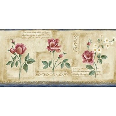 Sanita Rose Wallpaper Border - CZ012132B