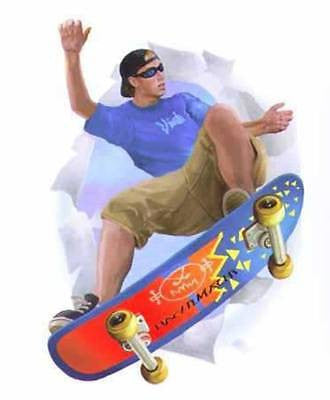 Village Skateboarder Break Out Mural/Applique - 852183