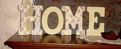 """HOME"" Decorated 9"" Multi-Colored Letters  - HM129"