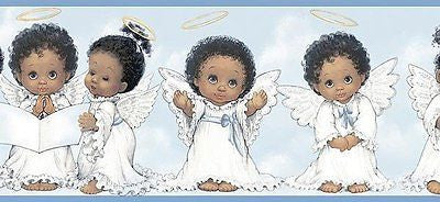 Chesapeake Baby Angels (blue) Wallpaper Border - FF03271B