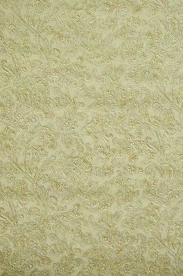 Brewster Tan Textured Floral Jacobean Wallpaper - 41383