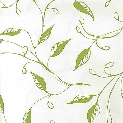 Ashford House Toiles Loose Leaf Trail Green/White  Wallpaper - AT4103