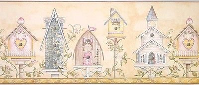 York Victorian Birdhouses Wallpaper Border - PA8074B