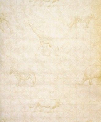 Beacon House Creamy Faux Safari Animal Silhouette Wallpaper - 80-64268