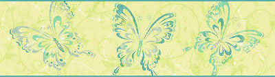 York Candice Olson Butterfly Wallpaper Border - CK7610B
