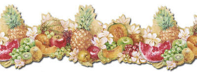 Norwall Pineapple, Watermelon, Grape, Fruit Wallpaper Border - MK77681DC