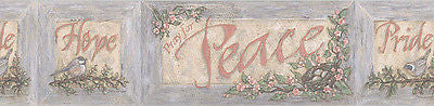 Brewster Peace Pride Hope Wallpaper Border - FDB05806