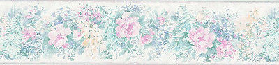 Brewster Satin Floral Wallpaper Border - B.3604