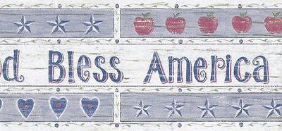 "Americana ""God Bless America"" Wallpaper Border - 5806901"