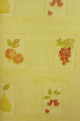 Norwall Light Yellow Fruit Wallpaper - TK25438