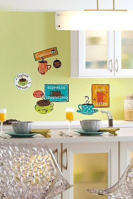 York Cafe' Peel & Stick Room Mates Wall Decals - RMK1740SCS